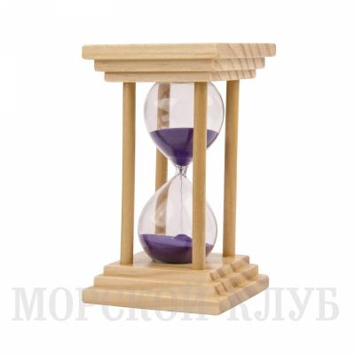 часы песочные фиолетовые 10мин