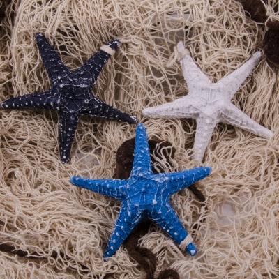 подвесная морская звезда 13см голубая