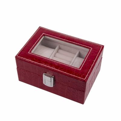 шкатулка для украшений красная 15,5см
