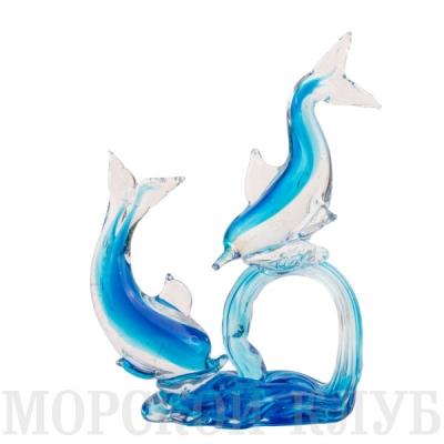 пара дельфинов 22см голубые