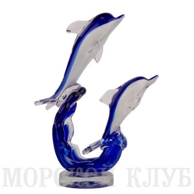пара дельфинов 22см синие