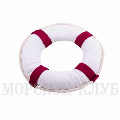 подушка спасательный круг  красный 30см