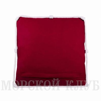 подушка якорь красная 40*40см