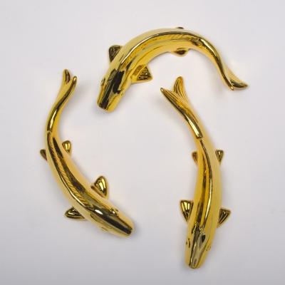 Керамическая рыбка настенная серебряная 25см