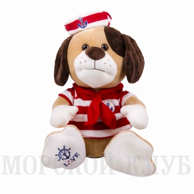 собака моряк 32см красная тельняшка