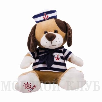 собака моряк 38см синяя тельняшка