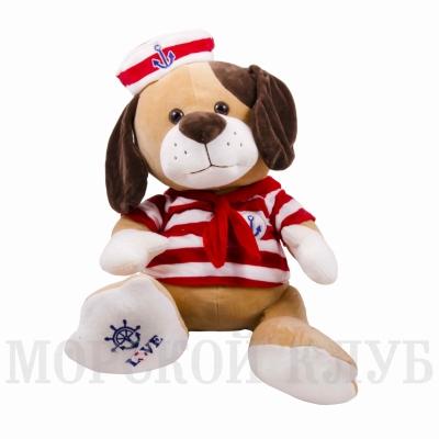 собака моряк 38см красная тельняшка