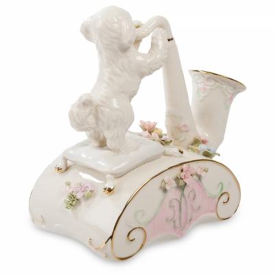 музыкальная фигурка щенок и саксофон (pavone)