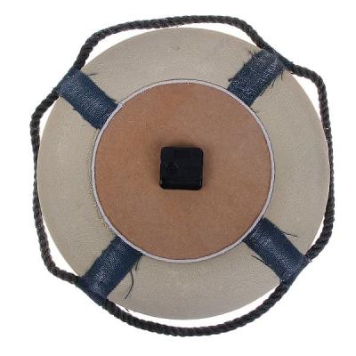 Спасательный круг с часами настенный 30см