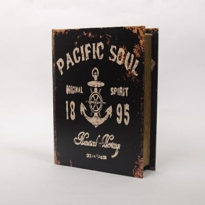 Книга-шкатулка с якорем 24см