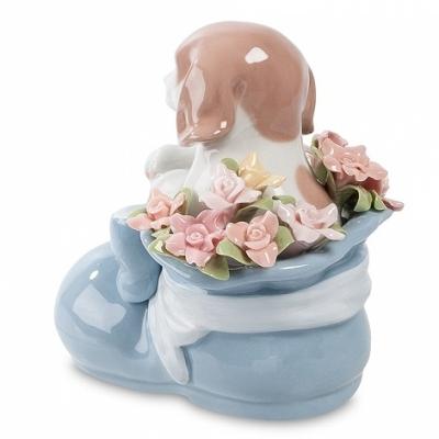 фигурка щенок башмачок радости голубой (pavone)