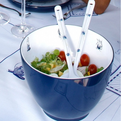 миска для салатов columbus + 2 салатные ложки