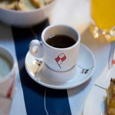 чашки для эспрессо с блюдцами regata, 6 шт