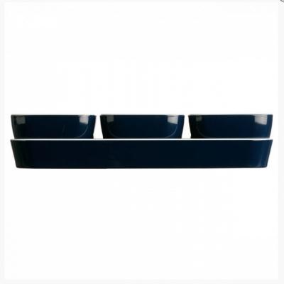 набор для закусок regata  (3 миски + поднос)