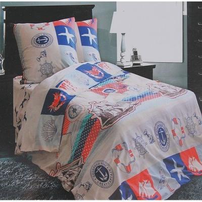 постельный комплект корабли и капитаны 1,5спальное