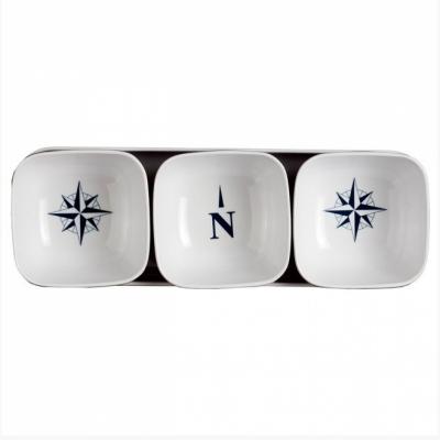 набор для закусок northwind (3 миски + поднос)