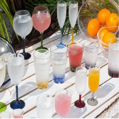бокалы для шампанского прозрачные с разноцветными ножками party, 6 шт.