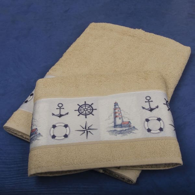 """Набор полотенец """"Морские знаки"""" в подарочной коробке"""