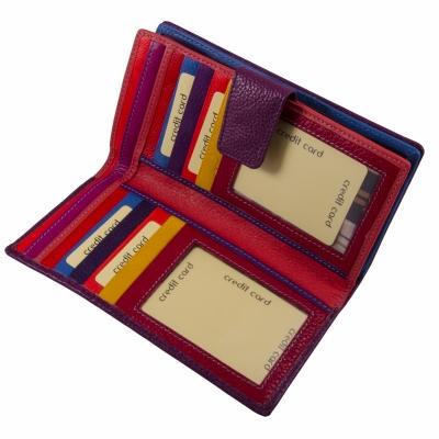 кошелек фиолетовый кожаный 20*10см