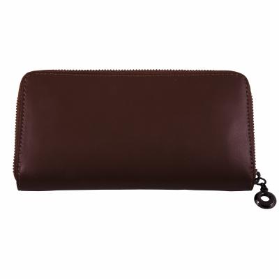 кошелек коричневый кожаный 20*11см