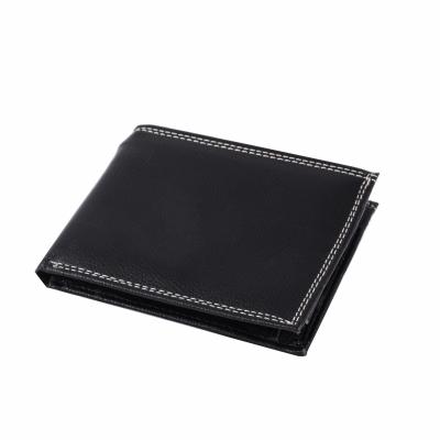 портмоне черное из натуральной кожи 10*12,5