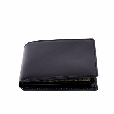 портмоне черное из натуральной кожи 10*12,5см