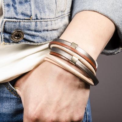браслет кожаный коричневый