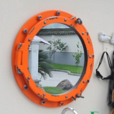 Иллюминатор-зеркало на стену 60см