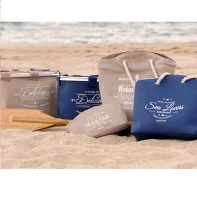 пляжная сумка бежевая 35см