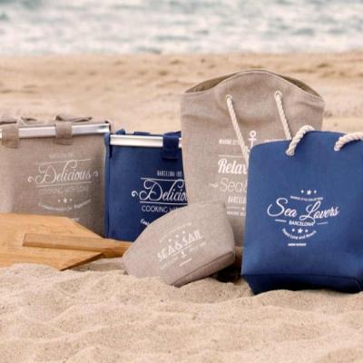 пляжная сумка синяя 45см