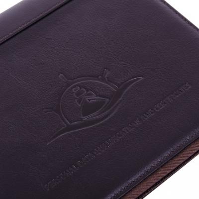 Папка для морских документов Compact коричневая