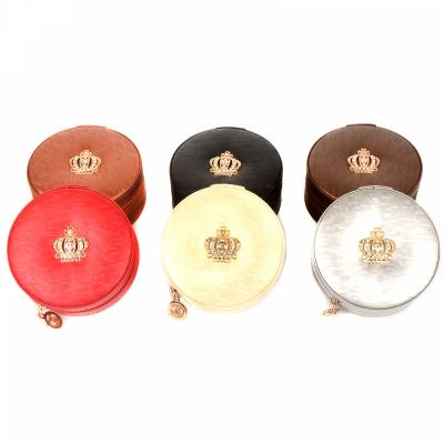 Шкатулка для бижутерии круглая серебристого цвета