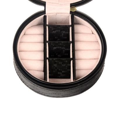 Шкатулка для украшений круглая черного цвета