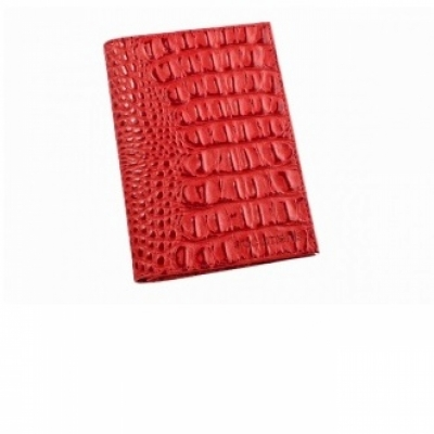 обложка для паспорта кайман  красная