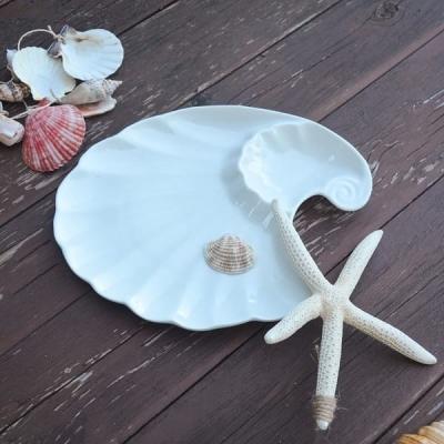 Тарелка керамика Ракушка 30*28см