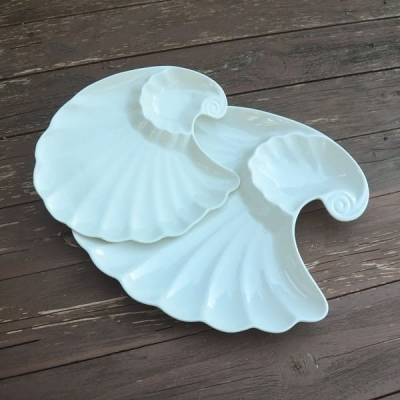 Тарелка закусочная Ракушка керамика 23*18см