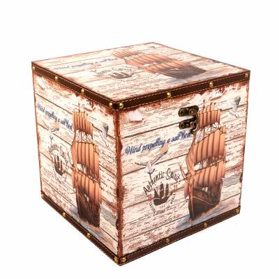 Сундук декоративный Парусник 25*25*25см