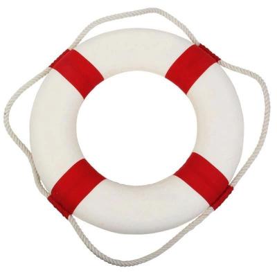 Спасательный круг декоративный красный 14см