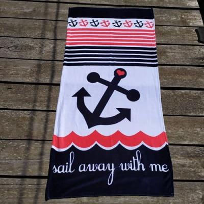 Полотенце пляжное Волна 70*140см