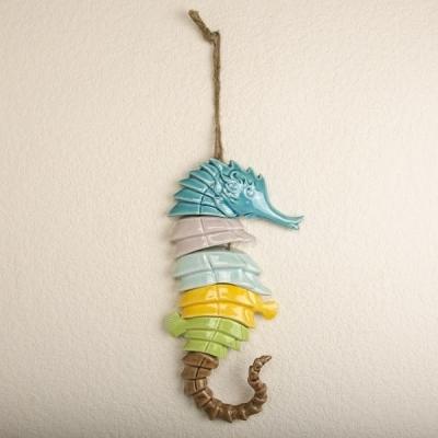 Конек морской керамический разноцветный