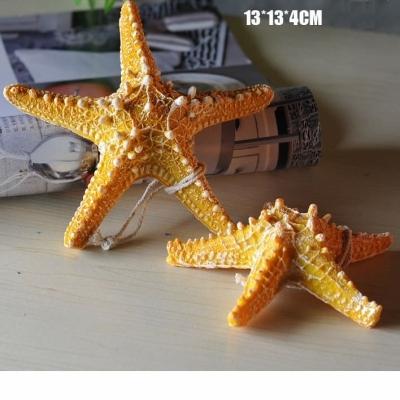 Звезда морская желтая 13см