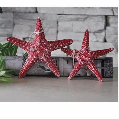 Звезда морская красная 13см