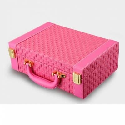 Шкатулка для украшений розовая 18см