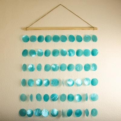 Панно Голубые перламутровые ракушки