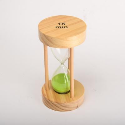 Песочные часы с зеленым песком на 15 мин