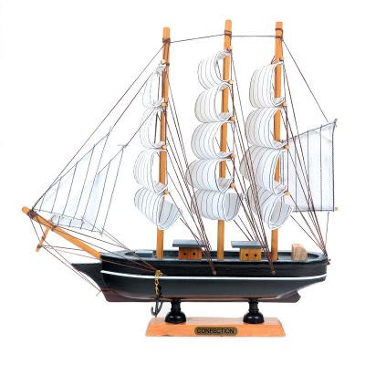 Деревянная модель парусника