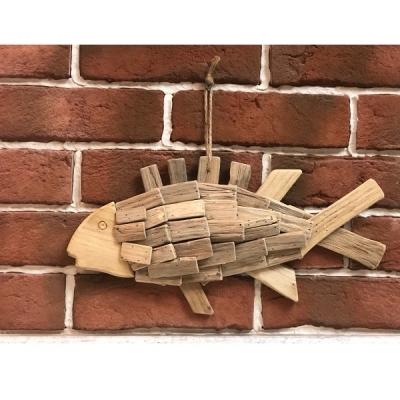 Рыба из плоских дощечек настенная 42 см