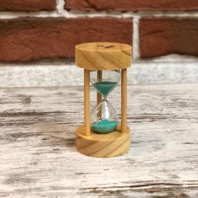 Песочные часы 5 мин с зеленым песком