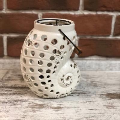 Подсвечник Ракушка керамическая 21см