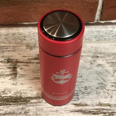 Термос металлический красный Якорь 400мл